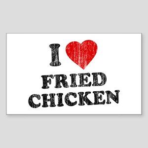 I Love [Heart] Fried Chicken Rectangle Sticker